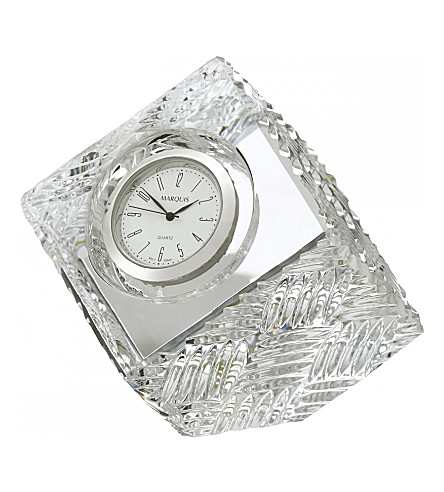 WATERFORD Marquis Versa crystal clock