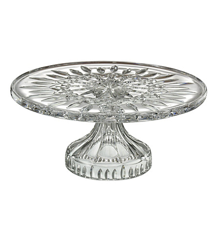 WATERFORD Lismore crystal cake plate