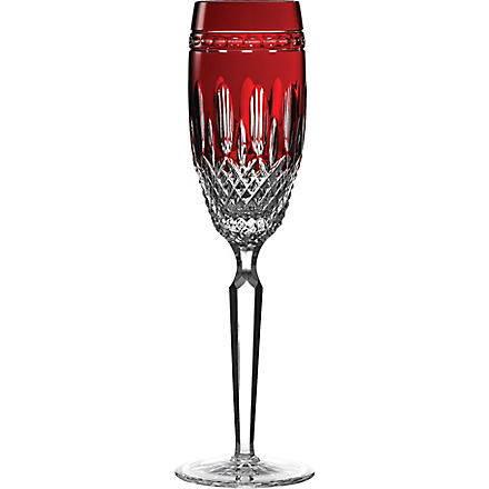 WATERFORD Clarendon ruby champagne flutes set of two