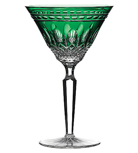 WATERFORD Set of two Clarendon Emerald Martini glasses