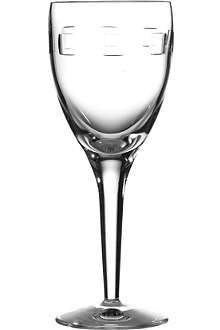 JOHN ROCHA @ WATERFORD Geo pair of small crystal wine glasses