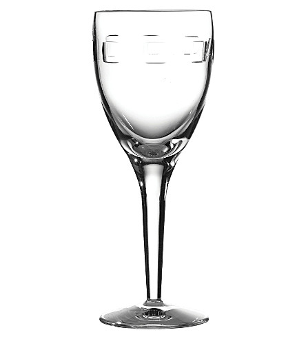 WATERFORD Geo pair of small crystal wine glasses
