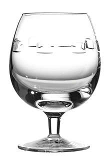 JOHN ROCHA @ WATERFORD Geo pair of crystal brandy glasses