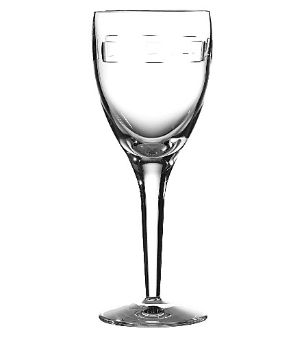 JOHN ROCHA @ WATERFORD Geo set of six white wine glasses