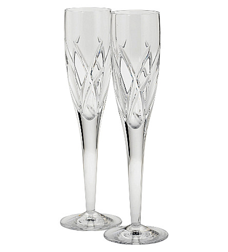 JOHN ROCHA @ WATERFORD Set of two Signature flutes
