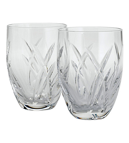 JOHN ROCHA @ WATERFORD Set of two Signature tumblers