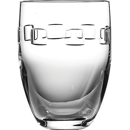 JOHN ROCHA @ WATERFORD Geo pair of crystal tumblers