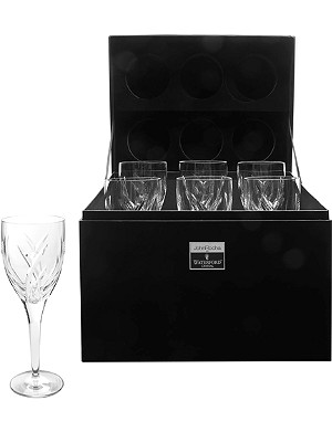 JOHN ROCHA @ WATERFORD Set of six Signature white wine glasses