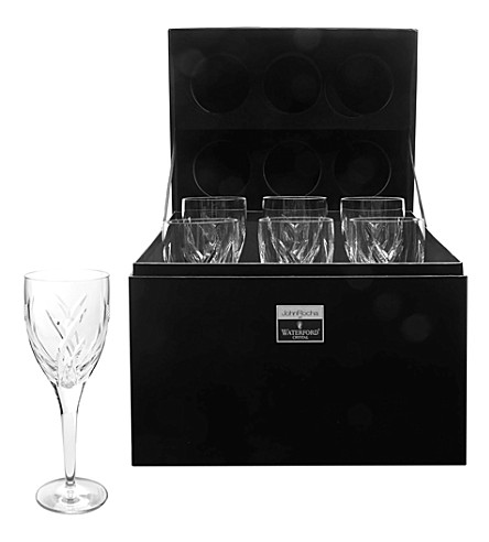 JOHN ROCHA @ WATERFORD Set of six Signature white wine glasses