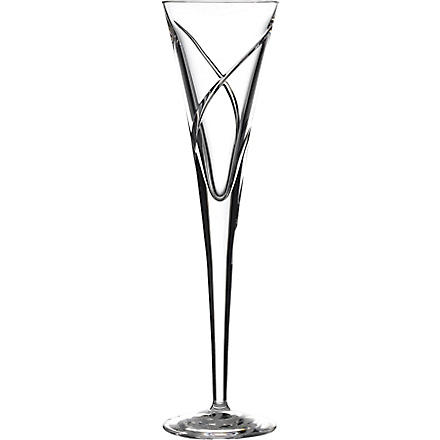 WATERFORD Set of two Siren crystal champagne flutes 0.15L