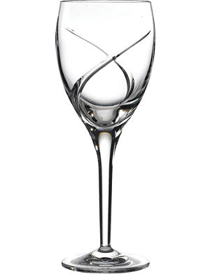 WATERFORD Set of two Siren white wine glasses