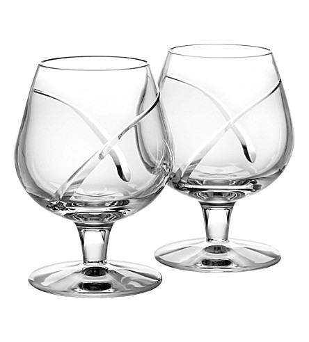 WATERFORD Set of two Siren brandy glasses