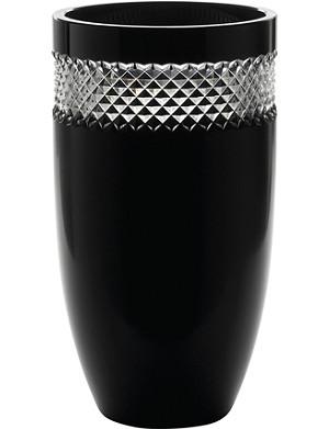 JOHN ROCHA @ WATERFORD Black Cut crystal vase