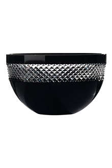 JOHN ROCHA @ WATERFORD Black Cut crystal bowl 25cm
