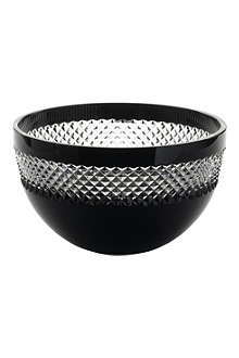 JOHN ROCHA @ WATERFORD Black Cut crystal bowl 20cm