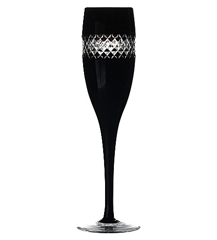 JOHN ROCHA @ WATERFORD Set of two black cut champagne glasses