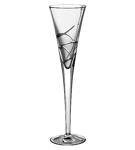 WATERFORD Pair of ballet ribbon champagne flutes