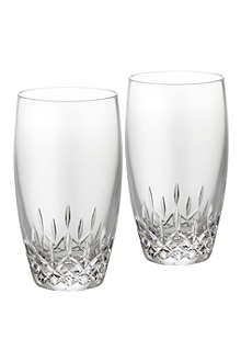 WATERFORD Lismore Essence pair of crystal highball tumblers