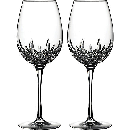 WATERFORD Lismore Essence pair of crystal red wine glasses