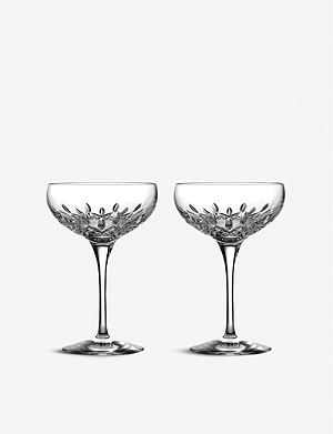 WATERFORD Lismore Essence champagne saucer, set of 2