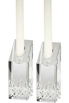 WATERFORD Lismore Essence pair of crystal candlestick holders 15cm