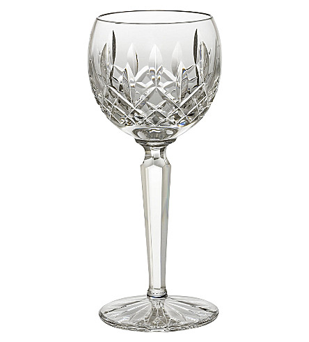 WATERFORD Lismore Hock crystal glass