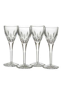WATERFORD Set of four Lismore Cordial glasses
