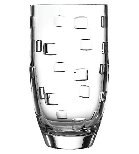 John Rocha Waterford Geometric Crystal Vase 25cm Selfridges