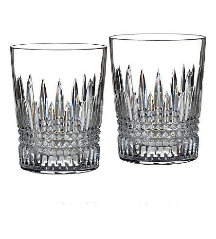 WATERFORD Set of two Lismore Diamond tumbler glasses