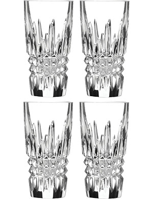 WATERFORD Lismore Diamond set-of-four crystal shot glasses