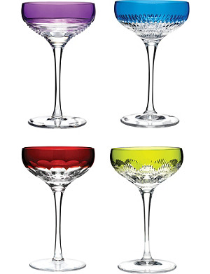WATERFORD Mixolgy set-of-four crystal coupe glasses