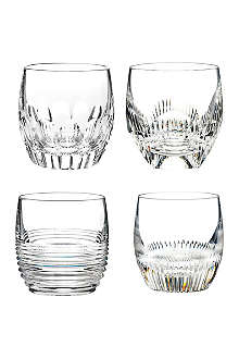 WATERFORD Mixology Double Old Fashioned set-of-four crystal shot glasses