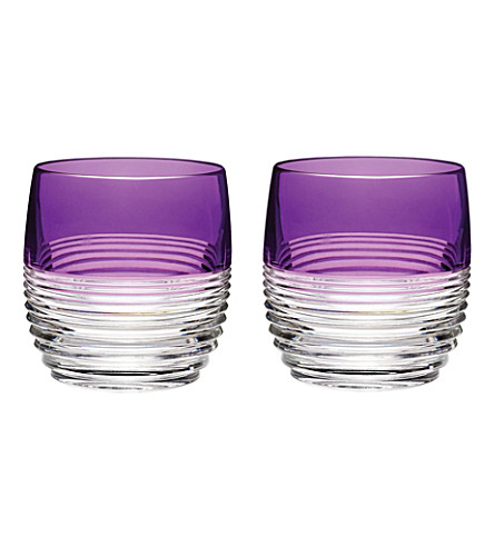 WATERFORD Mixology Circon pair of crystal tumblers