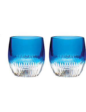 WATERFORD Pair of Argon tumblers
