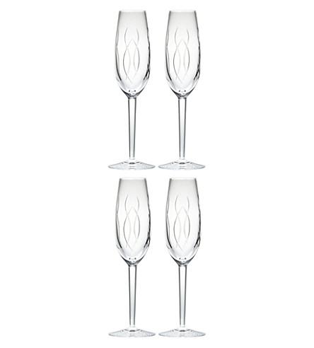 JOHN ROCHA @ WATERFORD 四水晶香槟长笛套装