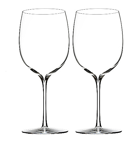 WATERFORD Set of two Elegance Bordeaux wine glasses