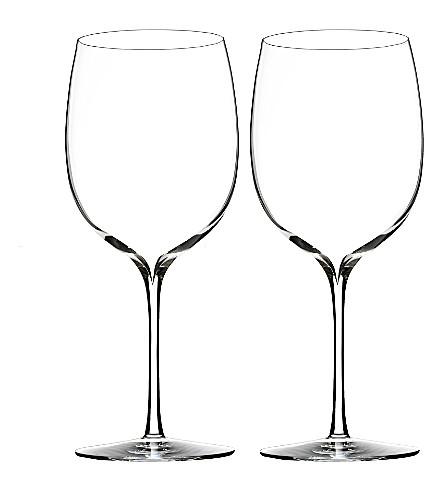 WATERFORD 两个优雅的一套 Bordeaux 葡萄酒杯
