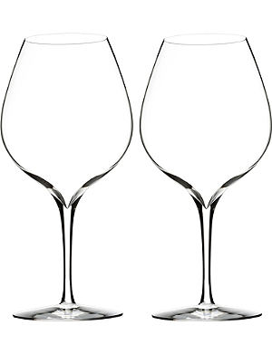 WATERFORD Set of two Elegance Merlot wine glasses