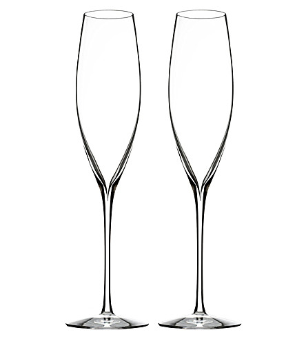 WATERFORD Set of two Elegance Champagne Classic flutes