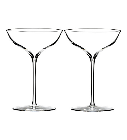WATERFORD Set of two Elegance Champagne Belle Coupe glasses