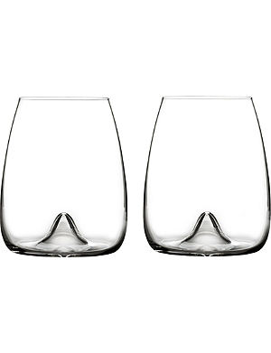 WATERFORD Set of two Elegance stemless wine glasses