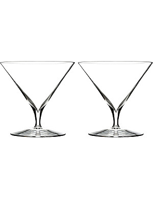 WATERFORD Set of two Elegance Martini glasses