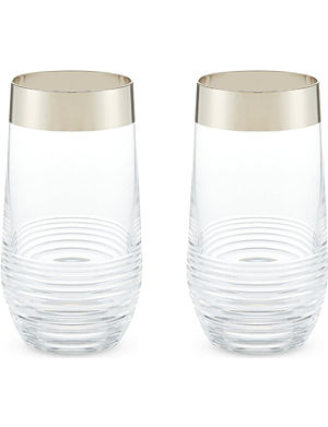 WATERFORD Mixology Mad Med Edition Circon highball glasses set of two