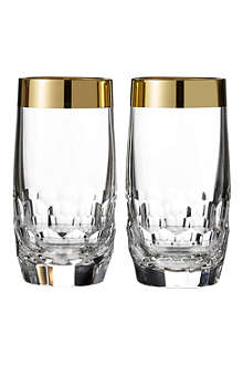 WATERFORD Set of two Mixology Draper HiBall glasses
