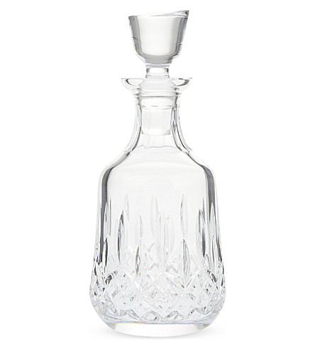WATERFORD Lismore bottle shaped crystal decanter