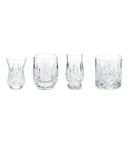 WATERFORD Lismore Connoisseur mixed set of four tumblers