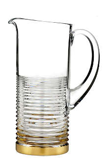 WATERFORD Mixology circon pitcher with gold band