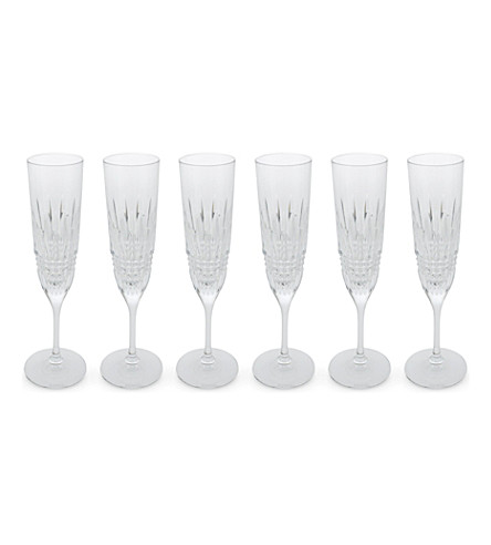 WATERFORD 利斯莫尔水晶香槟长笛套装 6 一块