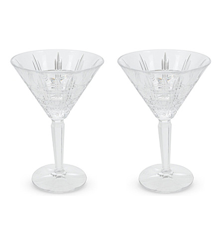WATERFORD Marquis crosby martini set 2 pieces