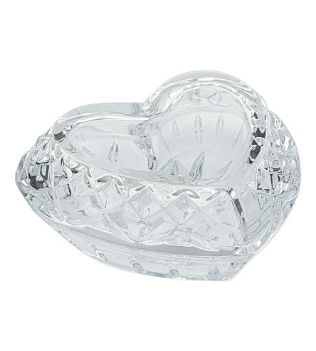 WATERFORD Crystal heart box